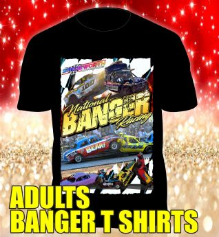 BLACK BANGER RACING T SHIRT